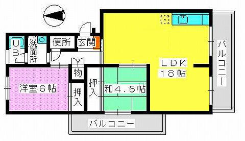 三田アーバンハウス / 201号室間取り