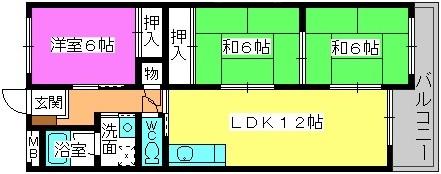 シャトレ針摺 / 203号室間取り