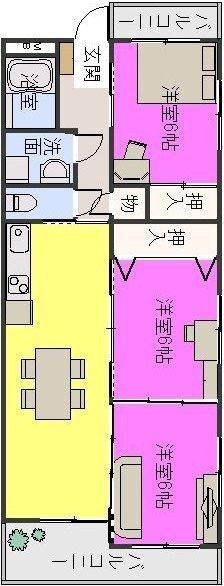 シャトレ針摺 / 305号室間取り