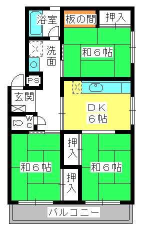 野田ビル / 201号室間取り