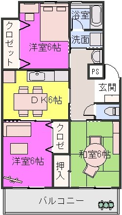野田ビル / 302号室間取り