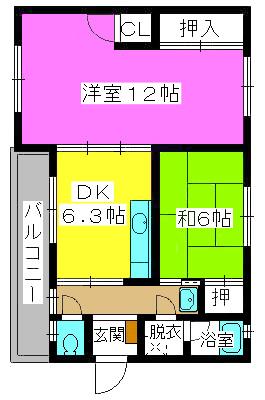 野田ビル / 305号室間取り