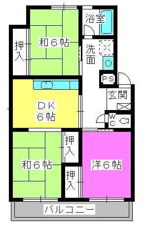 野田ビル / 402号室間取り