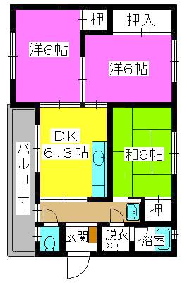 野田ビル / 405号室間取り