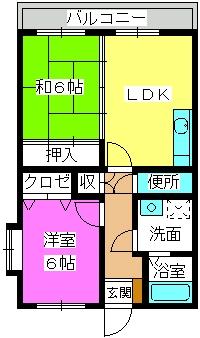 フォーレスト壱番館 / 203号室間取り