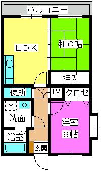 フォーレスト壱番館 / 401号室間取り