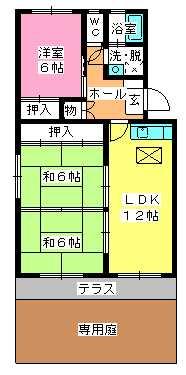 シャトー渡辺 / 101号室間取り