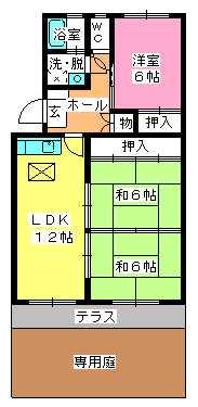 シャトー渡辺 / 102号室間取り