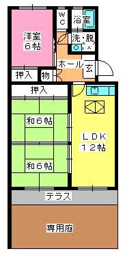 シャトー渡辺 / 103号室間取り