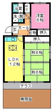 シャトー渡辺 / 107号室間取り