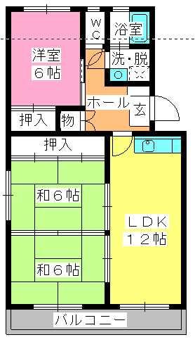 シャトー渡辺 / 301号室間取り