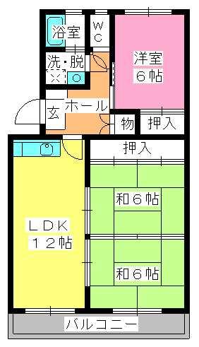 シャトー渡辺 / 305号室間取り