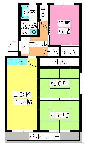 シャトー渡辺 / 407号室間取り
