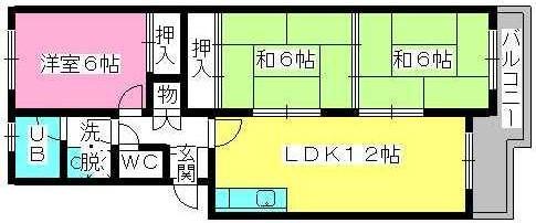 シティハイツ萩尾 / 202号室間取り