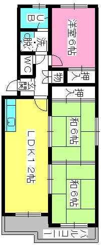 シティハイツ萩尾 / 207号室間取り
