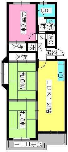 シティハイツ萩尾 / 301号室間取り