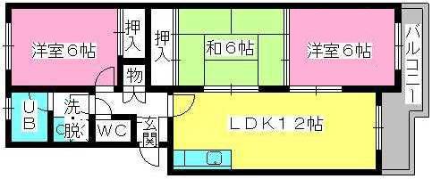 シティハイツ萩尾 / 305号室間取り