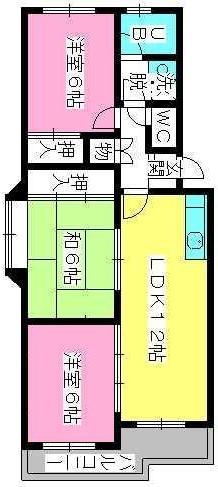 シティハイツ萩尾 / 401号室間取り