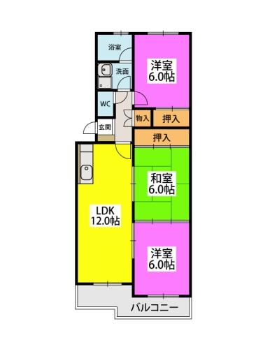 シティハイツ萩尾 / 405号室間取り