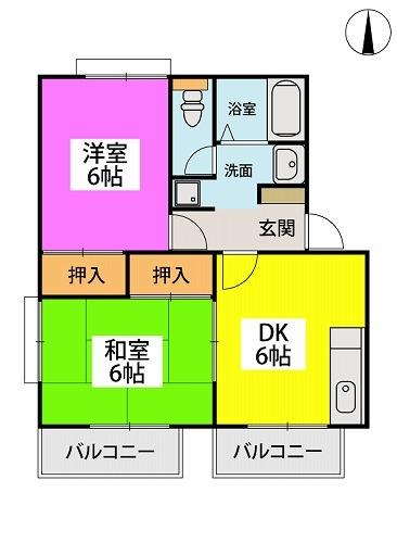レピュートMF / 201号室間取り