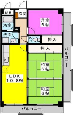 シャトレ壱番館 / 303号室間取り