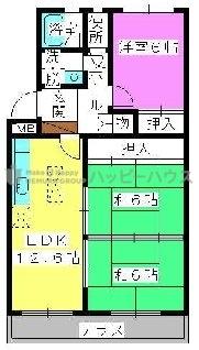 シャルマン観世Ⅱ / 103号室間取り