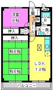 コーポユキⅡ / 102号室間取り
