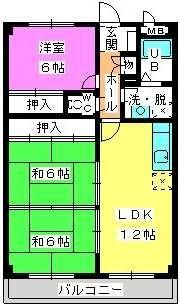 コーポユキⅡ / 302号室間取り