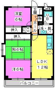 コーポユキⅡ / 305号室間取り
