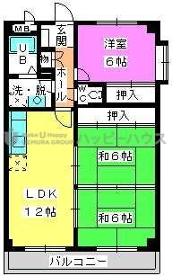 コーポユキⅡ / 401号室間取り