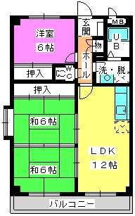 コーポユキⅡ / 405号室間取り