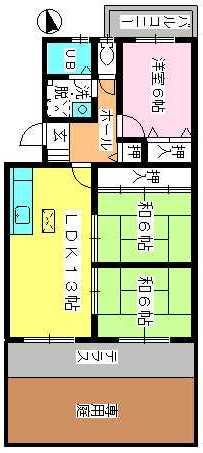 ドミール水城 / 106号室間取り