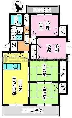 ドミール水城 / 201号室間取り