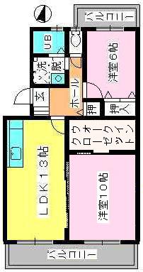 ドミール水城 / 203号室間取り