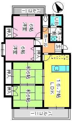 ドミール水城 / 207号室間取り