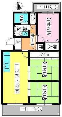 ドミール水城 / 303号室間取り