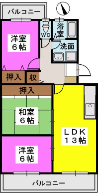 ドミール水城 / 305号室間取り
