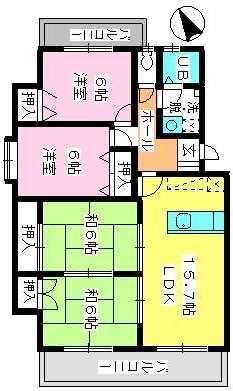 ドミール水城 / 307号室間取り