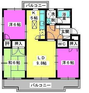 パストラル杉塚 / 101号室間取り