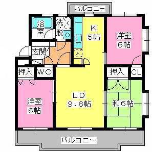 パストラル杉塚 / 205号室間取り