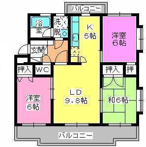 パストラル杉塚 / 305号室間取り