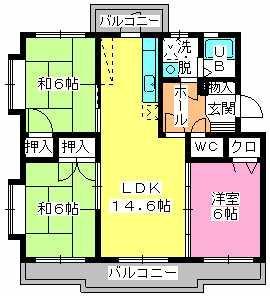 サンハイツ塔原 / 305号室間取り
