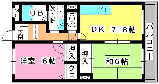 シャトレ針摺Ⅱ / 301号室間取り