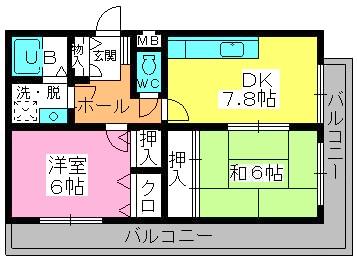シャトレ針摺Ⅱ / 303号室間取り