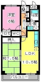 サンライズ天拝 / 402号室間取り