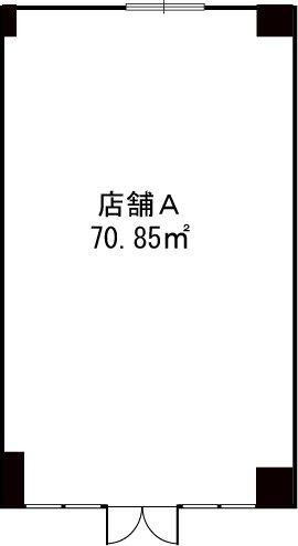 プルニア都府楼(店舗) / 店舗A号室間取り
