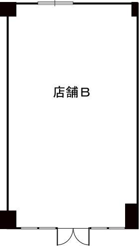 プルニア都府楼(店舗) / 店舗B号室間取り