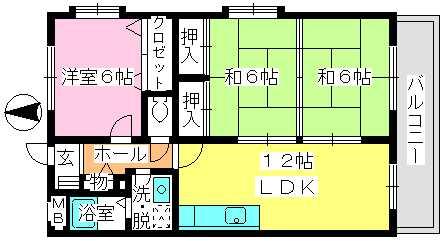 エクセレント中嶋Ⅱ / 201号室間取り