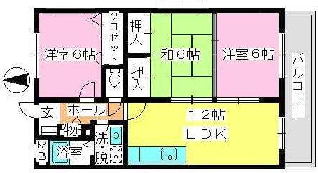 エクセレント中嶋Ⅱ / 203号室間取り