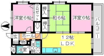 エクセレント中嶋Ⅱ / 301号室間取り
